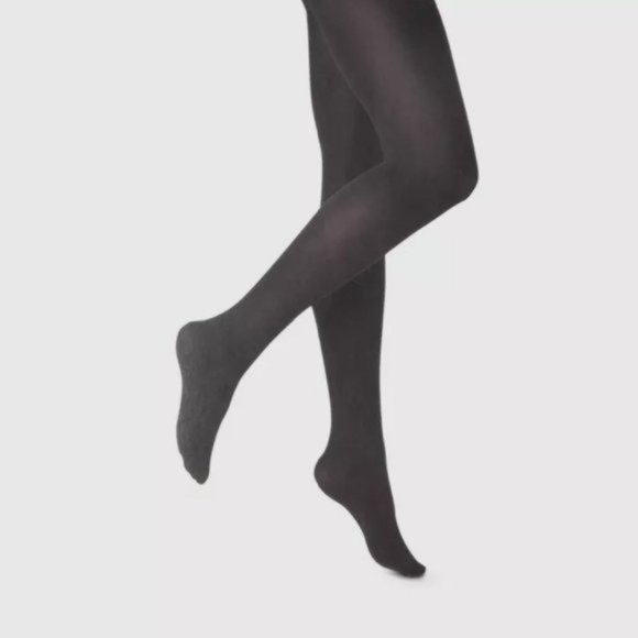 NWT a new day Control Top Opaque Tights Black M/L